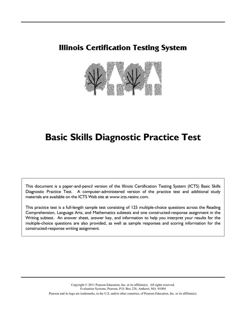 Basic Skills Diagnostic Practice Test Illinois Certification