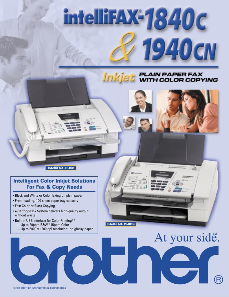 intelligent color inkjet solutions for fax copy needs manualzz com rh manualzz com brother fax-1840c manual de instrucciones brother fax 1840c manuale
