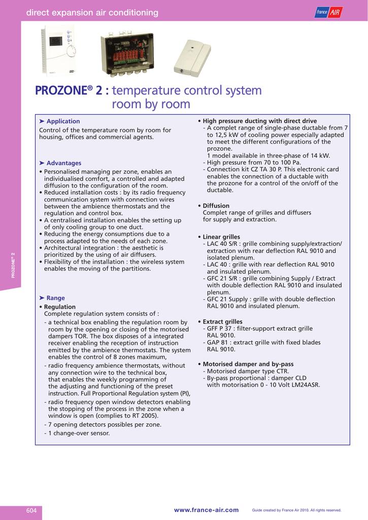 temperature control system room by room pROZONE   manualzz com