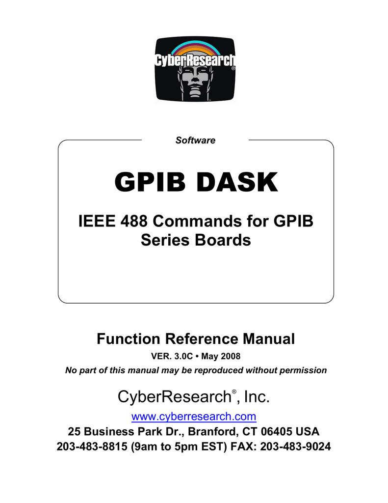 GPIB DASK IEEE 488 Commands for GPIB Series Boards