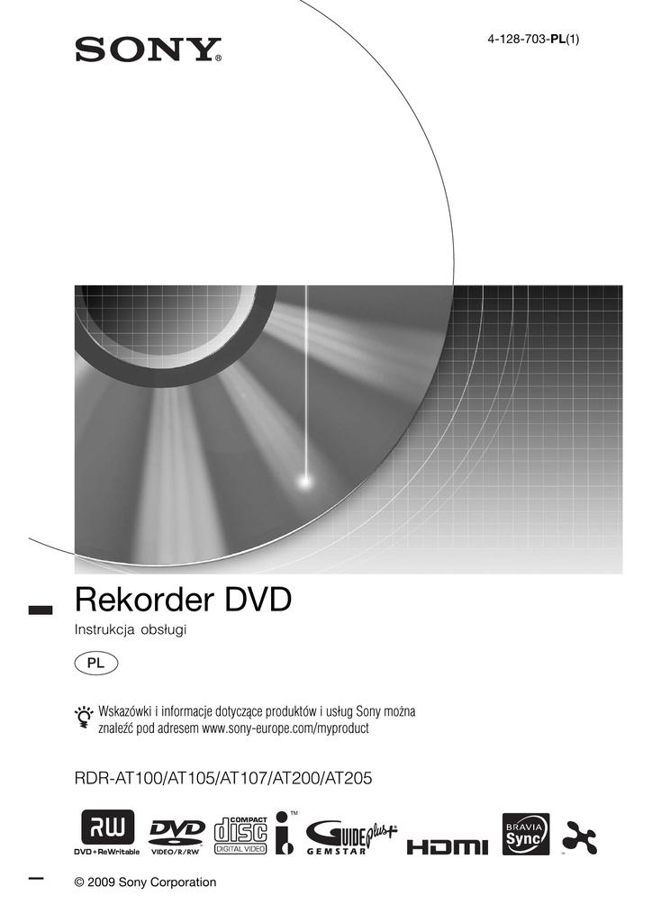 Sony Rdr At100 Instrukcja Obsługi Manualzzcom