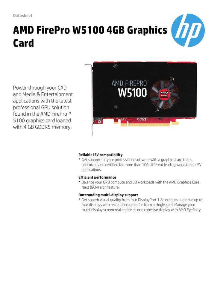 AMD FirePro W5100 4GB Graphics Card | manualzz com