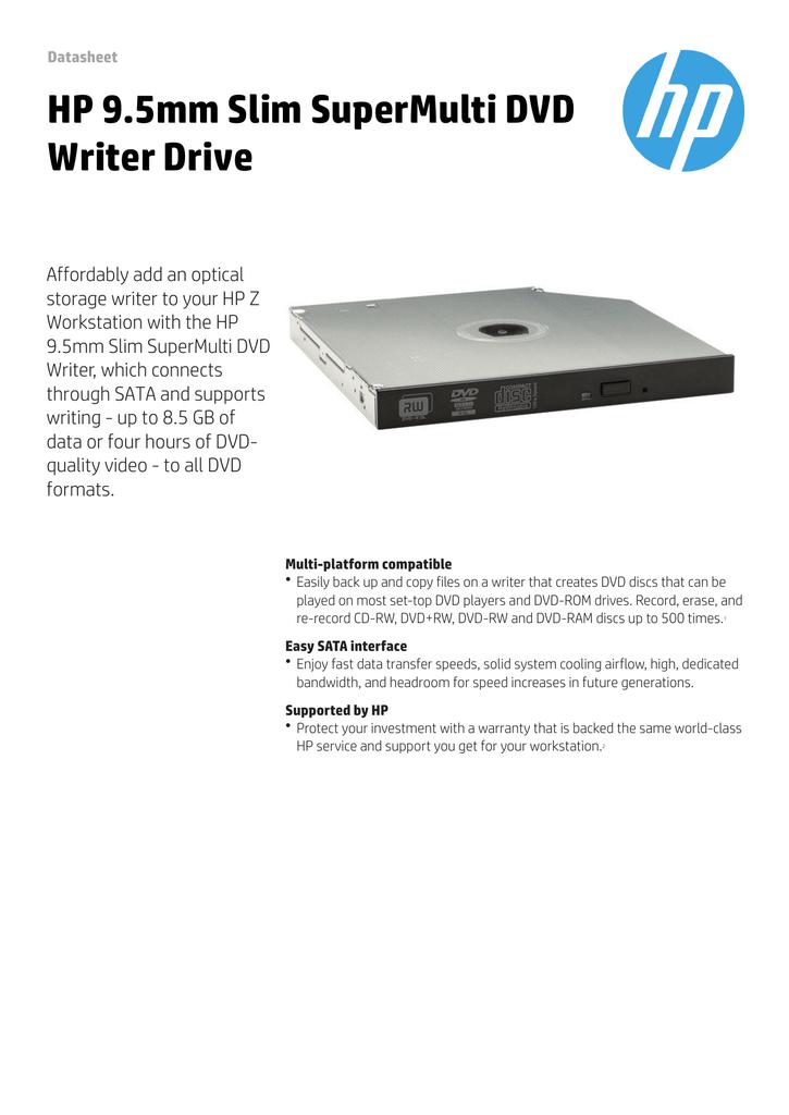 HP 9 5mm Slim SuperMulti DVD Writer Drive | manualzz com