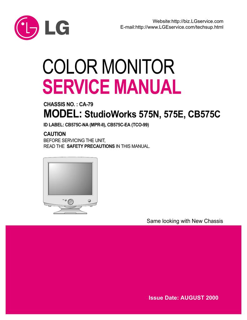 Color Monitor Service Manual Model  Studioworks 575n  575e