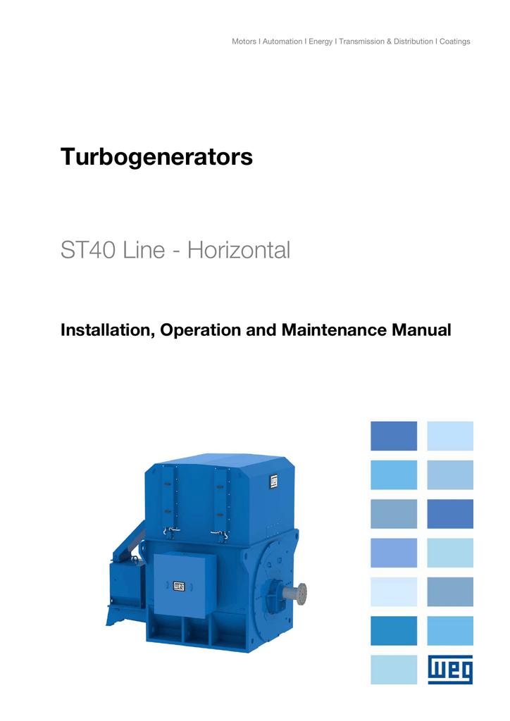 Turbogenerators ST40 Line - Horizontal Installation