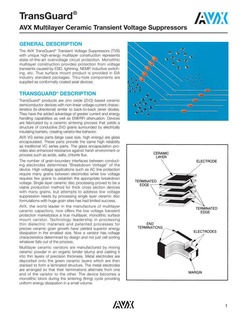 10 pieces Varistors 5.6V 0.1J Energy