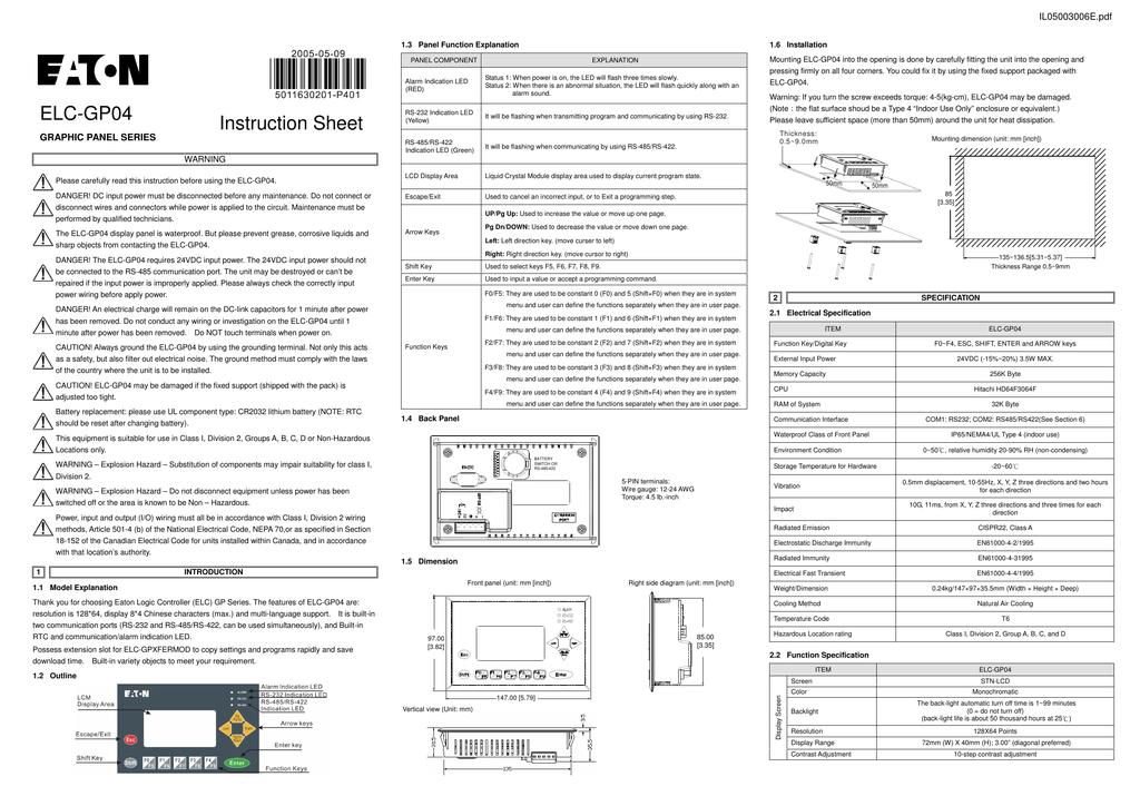 IL05003006E.pdf | Manualzz