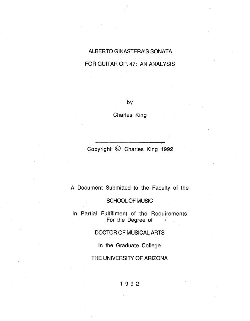 Alberto Ginasteras Sonata For Guitar Op 47 An Analysis By Strings Diagram Illustration E A D G B
