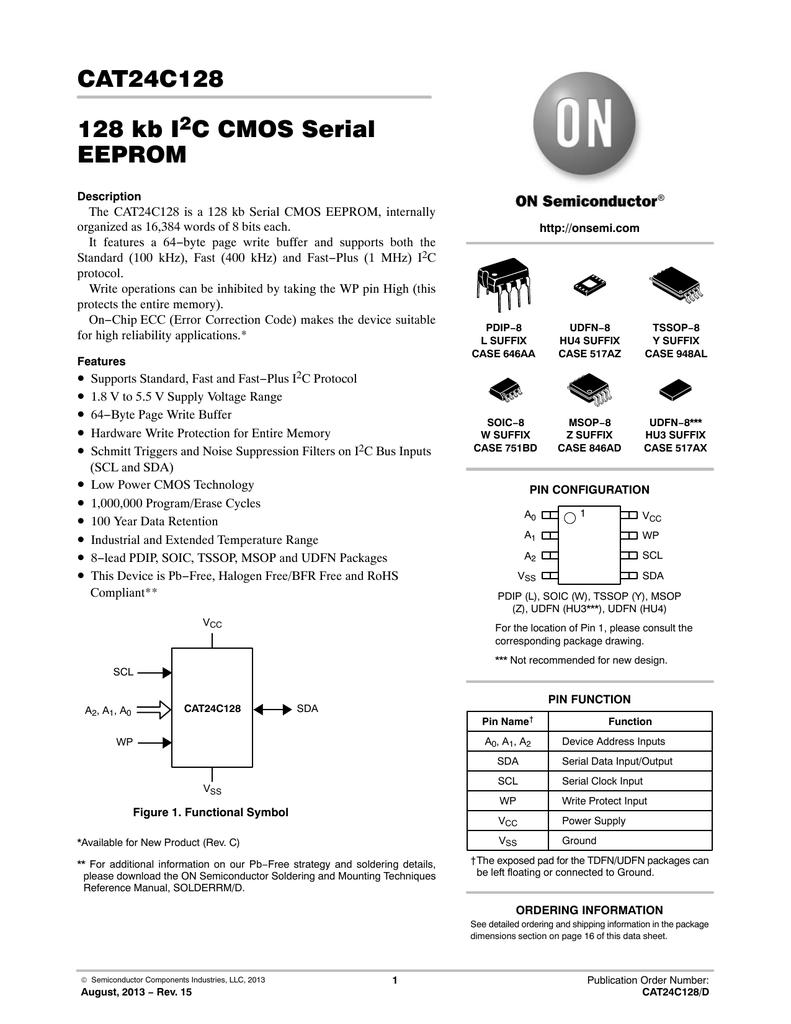 CAT24C128 128 kb I C CMOS Serial EEPROM   manualzz com