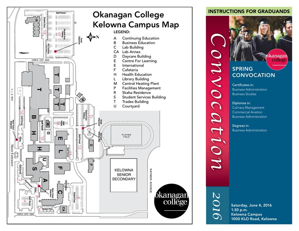 st philips campus map Okanagan College Kelowna Campus Map Manualzz st philips campus map