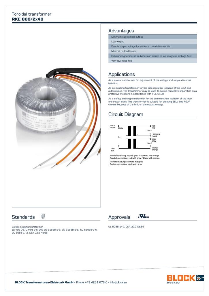 advantages toroidal transformer rke 800 2x40 manualzz com variable transformer wiring diagram toroidal transformer wiring diagram #10