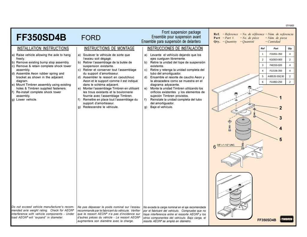 Timbren FF350SD4B Suspension Enhancement System