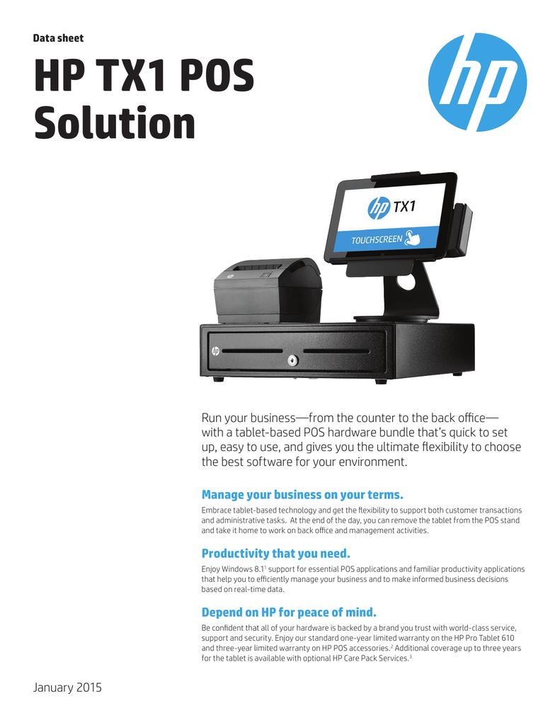 HP TX1 POS Solution   manualzz com