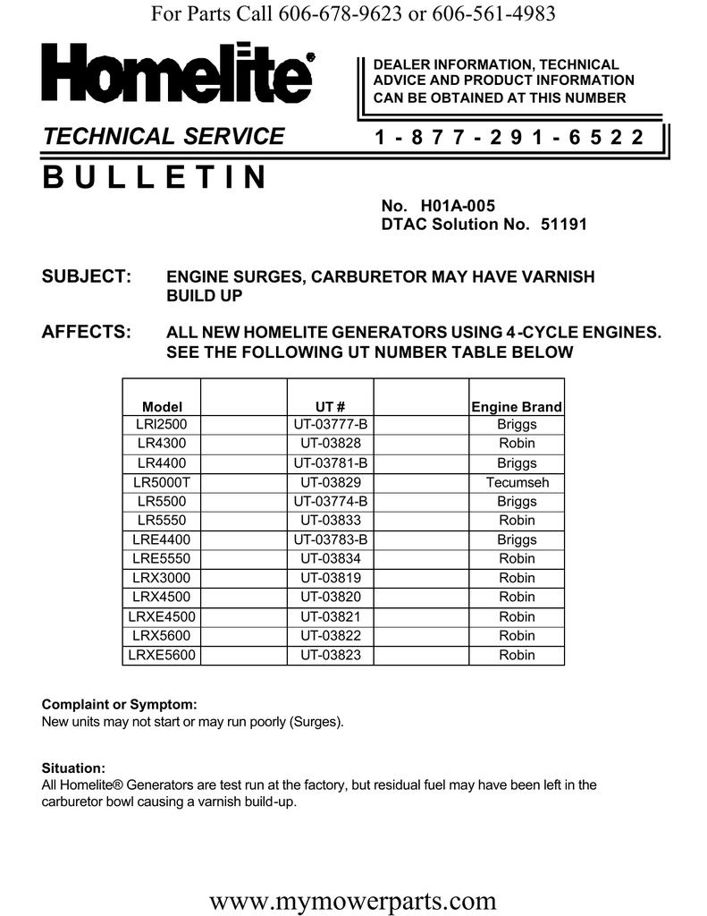 B U L L E T I N TECHNICAL SERVICE   manualzz com