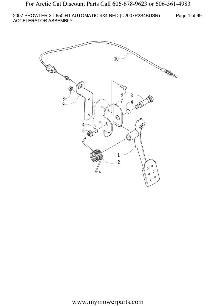 Arctic Cat 650 H1 Carburetor Parts Diagram