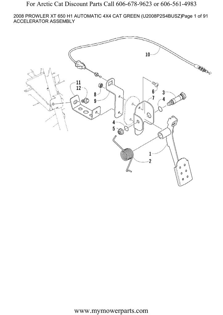 2008 Arctic Cat 650 H1 Parts Diagram