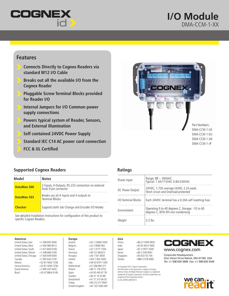 I/O Module DMA-CCM-1-XX Features | manualzz com
