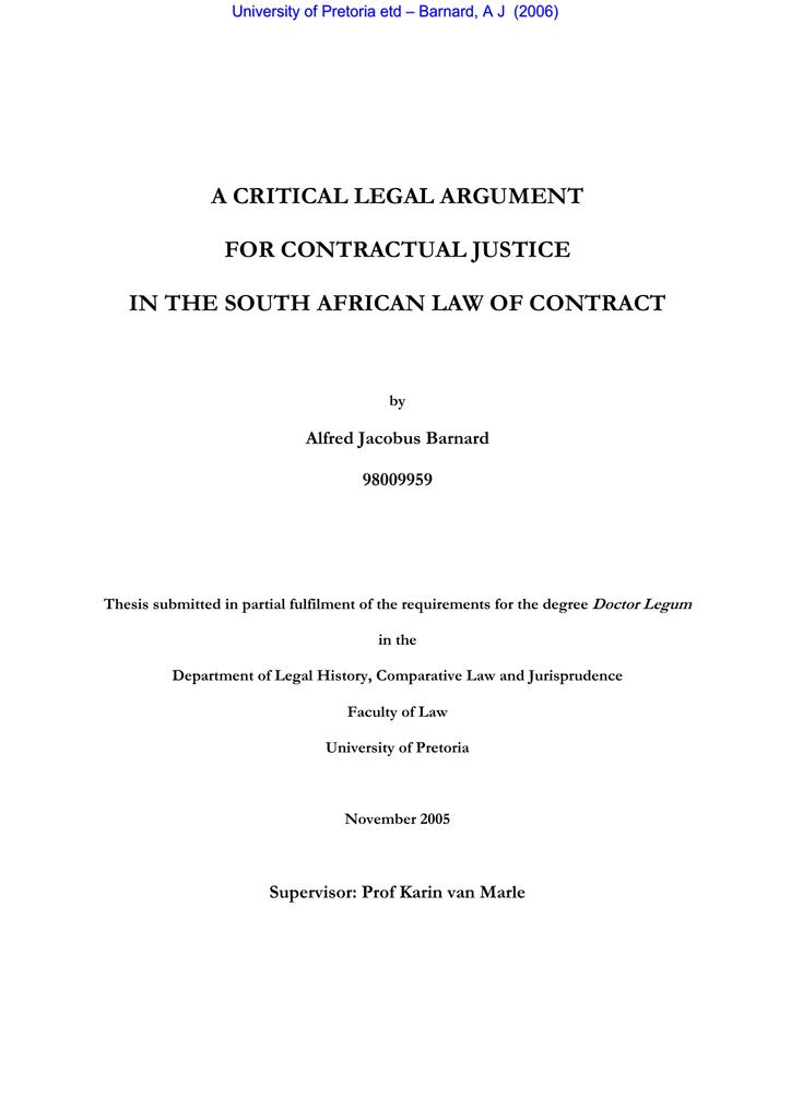 A CRITICAL LEGAL ARGUMENT FOR CONTRACTUAL JUSTICE | manualzz com