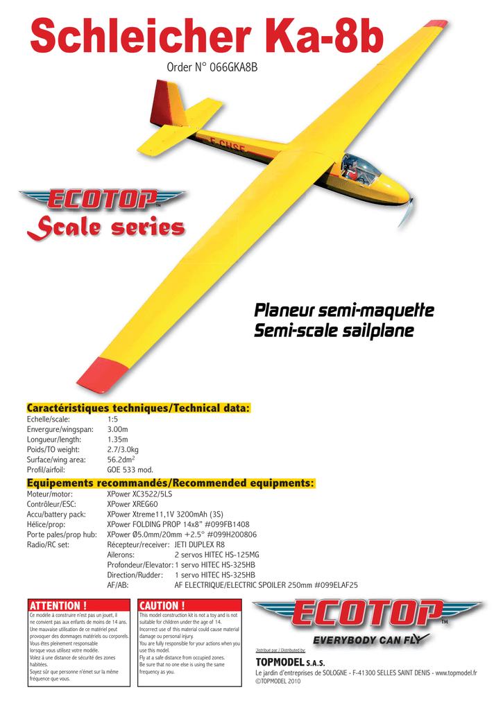 Schleicher Ka-8b Planeur semi-maquette Semi-scale sailplane