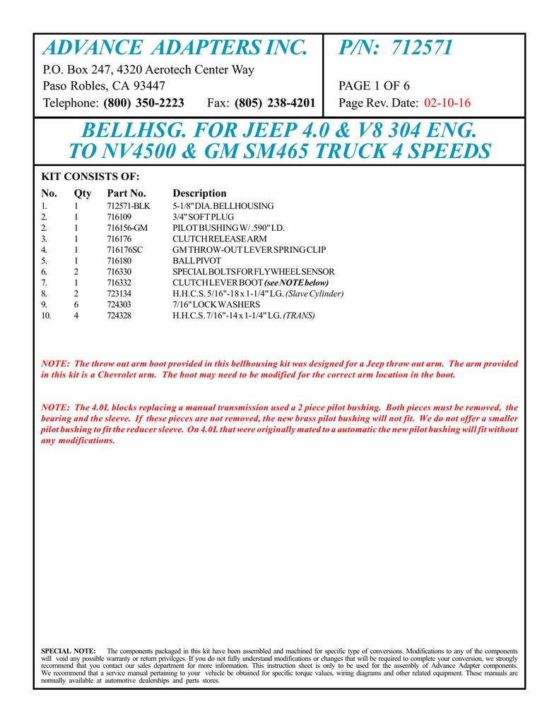 ADVANCE ADAPTERS INC  P/N: 712571 | manualzz com