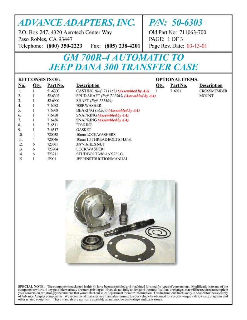 ADVANCE ADAPTERS, INC  P/N: 50-6303 | manualzz com