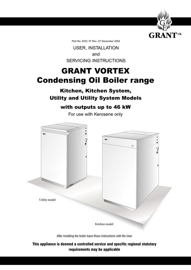 Grant vortex eco external floor standing installation and.