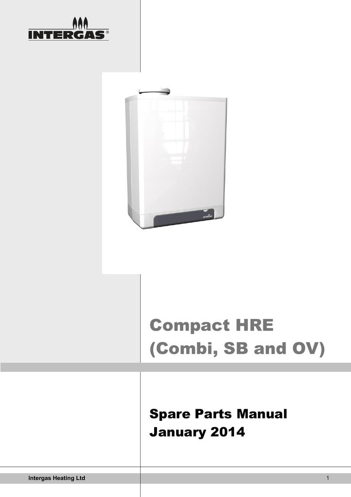 INTERGAS  COMPACT HRE OV 18 24 30 /& HRE SB 18 24 30 /& RAPID 25 32 SENSOR 200177