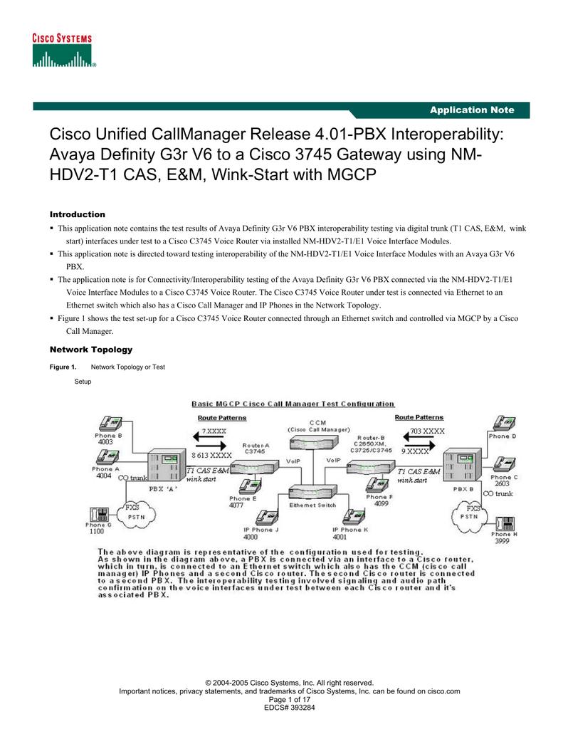 Cisco Unified CallManager Release 4 01-PBX Interoperability