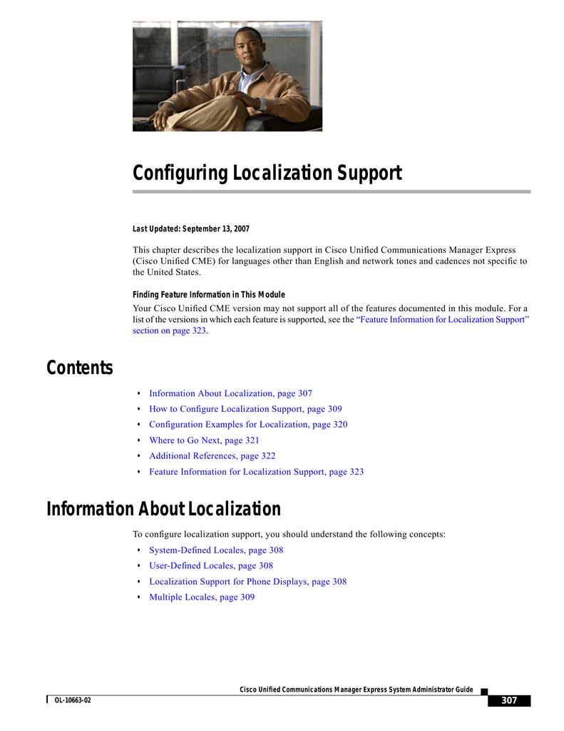 Configuring Localization Support | manualzz com