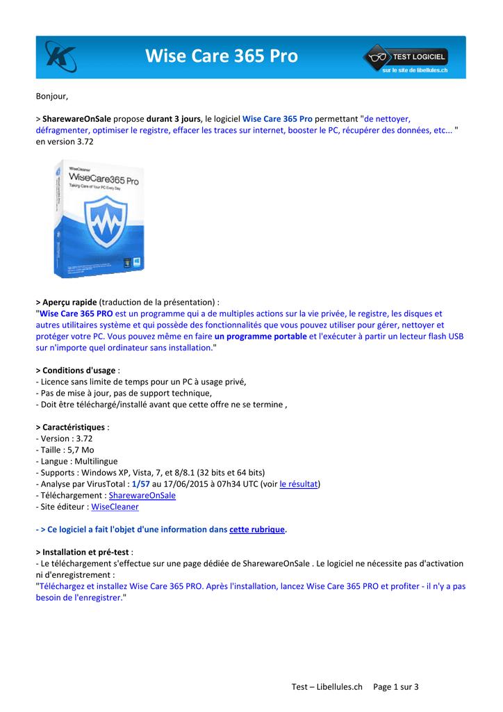 Wise Care 365 Pro | manualzz com