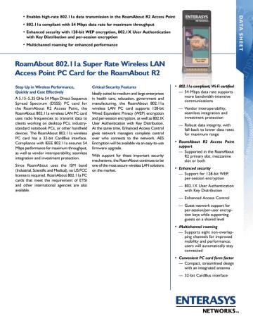 R2 Card 54Mbps.pdf | Manualzz