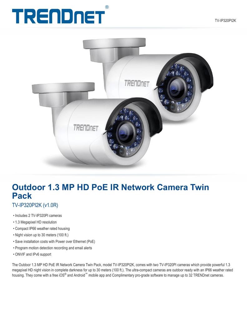 TRENDnet TV-IP320PI2K v1.0R Network Camera Treiber Windows 7