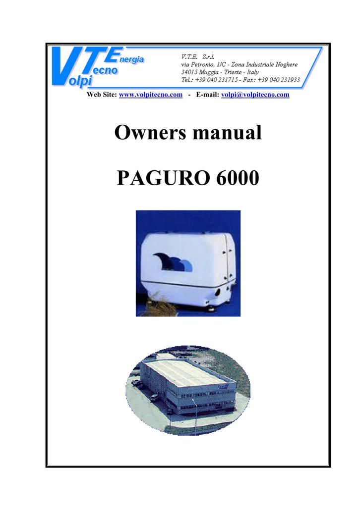 owners manual paguro 6000 web site e mail manualzz com rh manualzz com Paguro Connectors