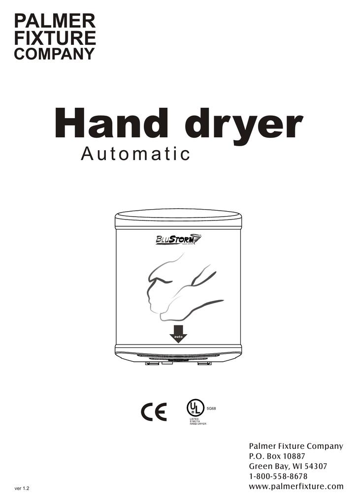 Palmer Fixture HD0950-09 Blustorm Hand Dryer