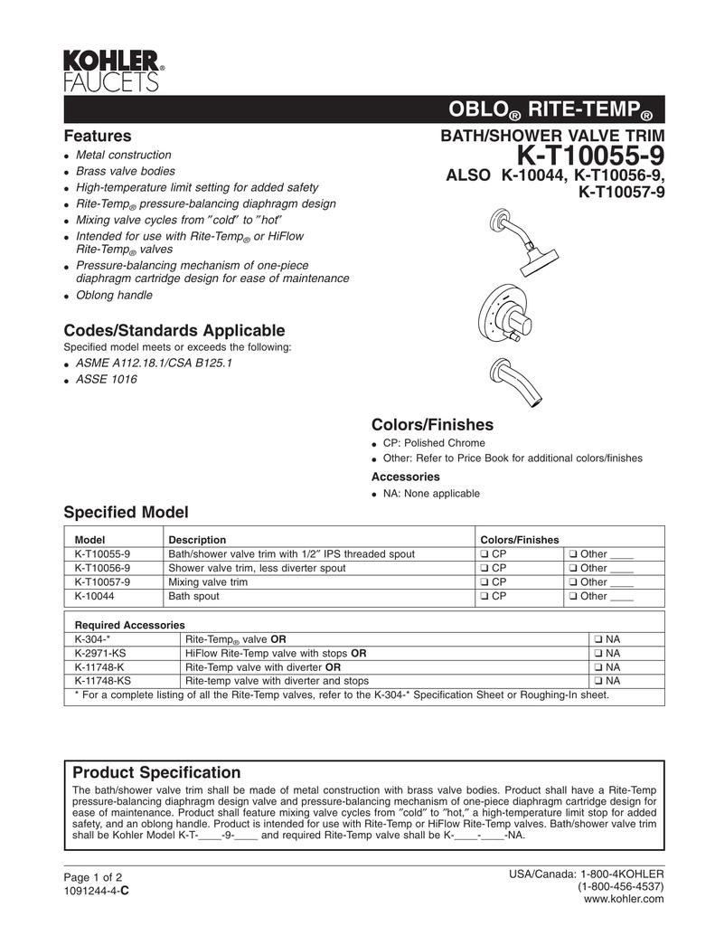 K-T10055-9 - Home Depot | manualzz com