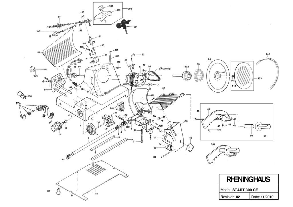 Meat Slicer Parts Diagram