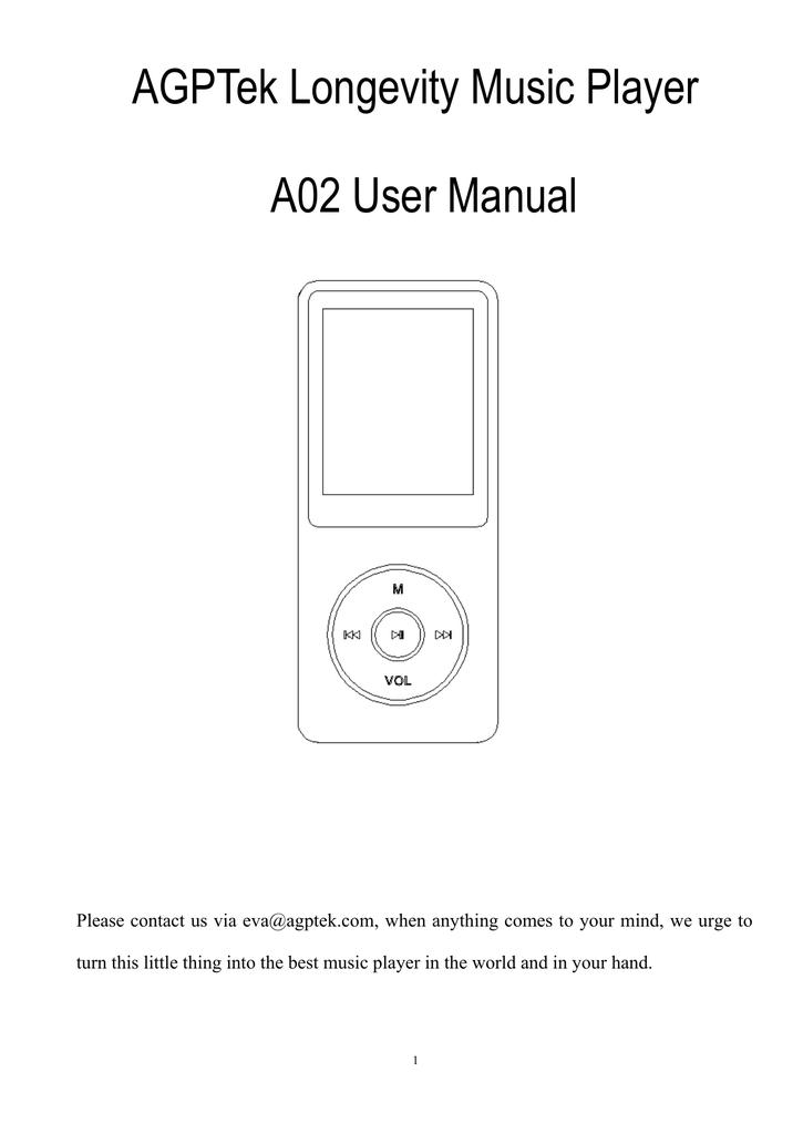 Agptek Longevity Music Player A02 User Manual Manualzz