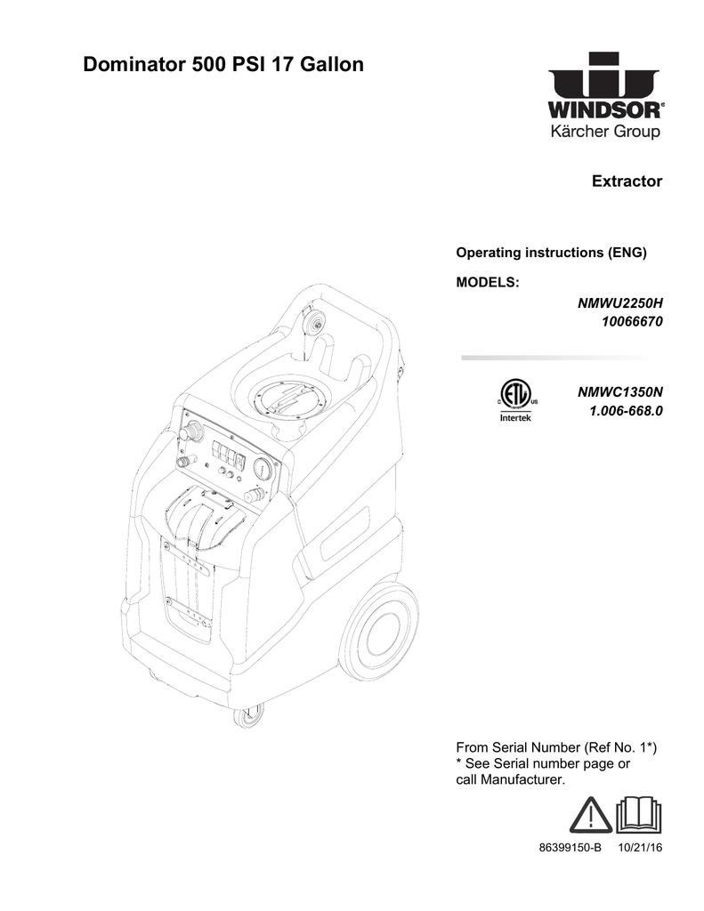 Dominator 500 Psi 17 Gallon Drainage Pump Karcher Sp 3 Dirt
