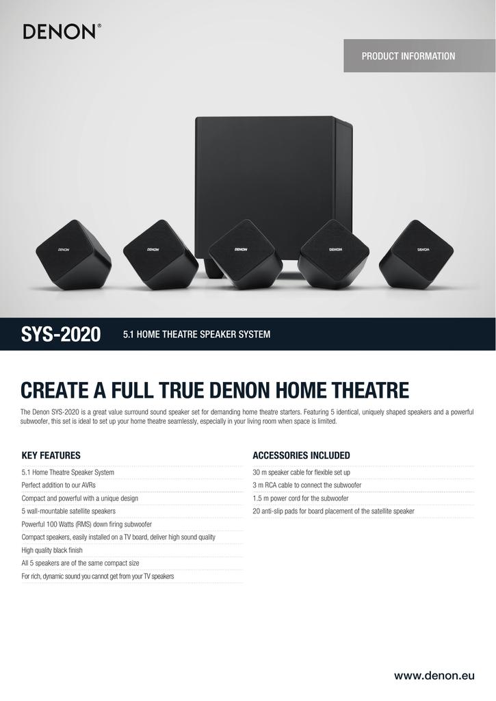 create a full true denon home theatre | manualzz com