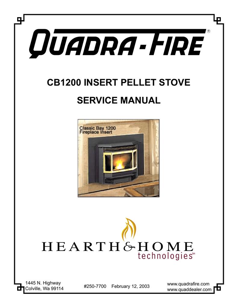 cb1200 insert pellet stove service manual   manualzz.com on