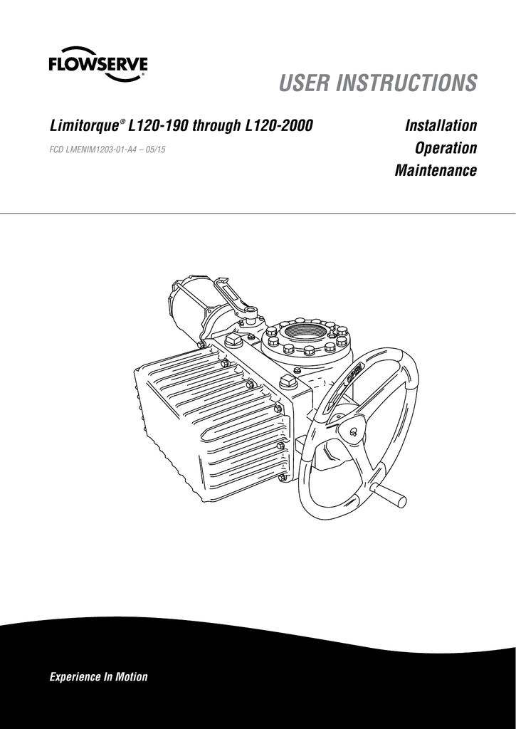 USER INSTRUCTIONS - Flowserve Corporation   Manualzzmanualzz