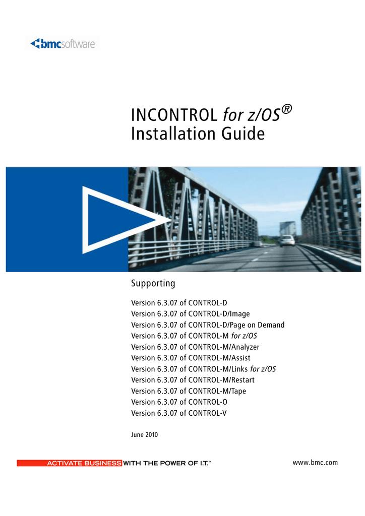 INCONTROL for z/OS Installation Guide | manualzz com
