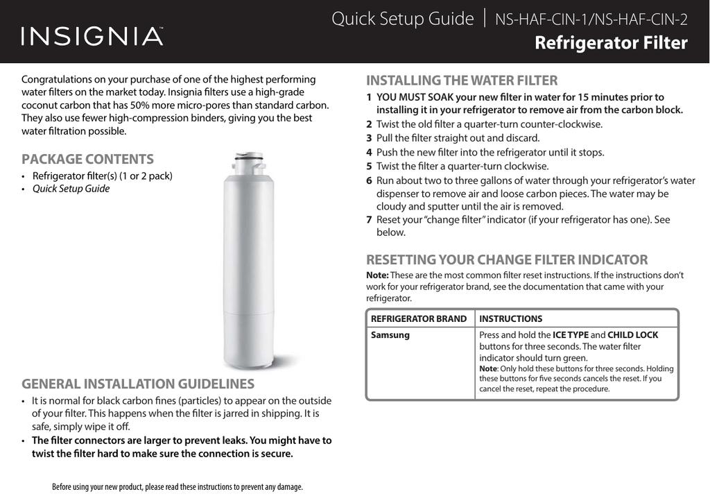 Refrigerator Filter | manualzz com