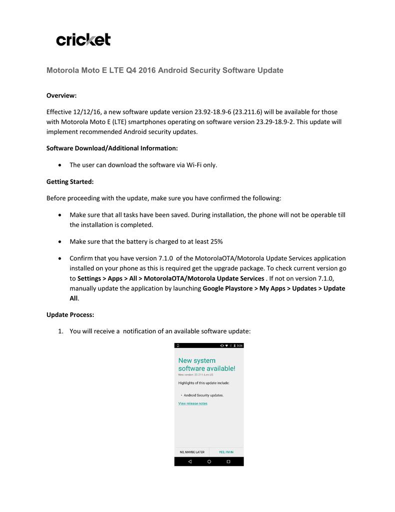 Motorola Moto E LTE Q4 2016 Android Security | manualzz com