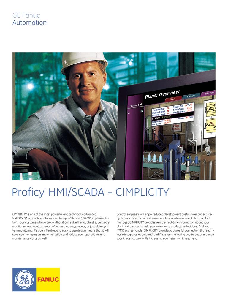 Proficy* HMI/SCADA – CIMPLICITY | manualzz com