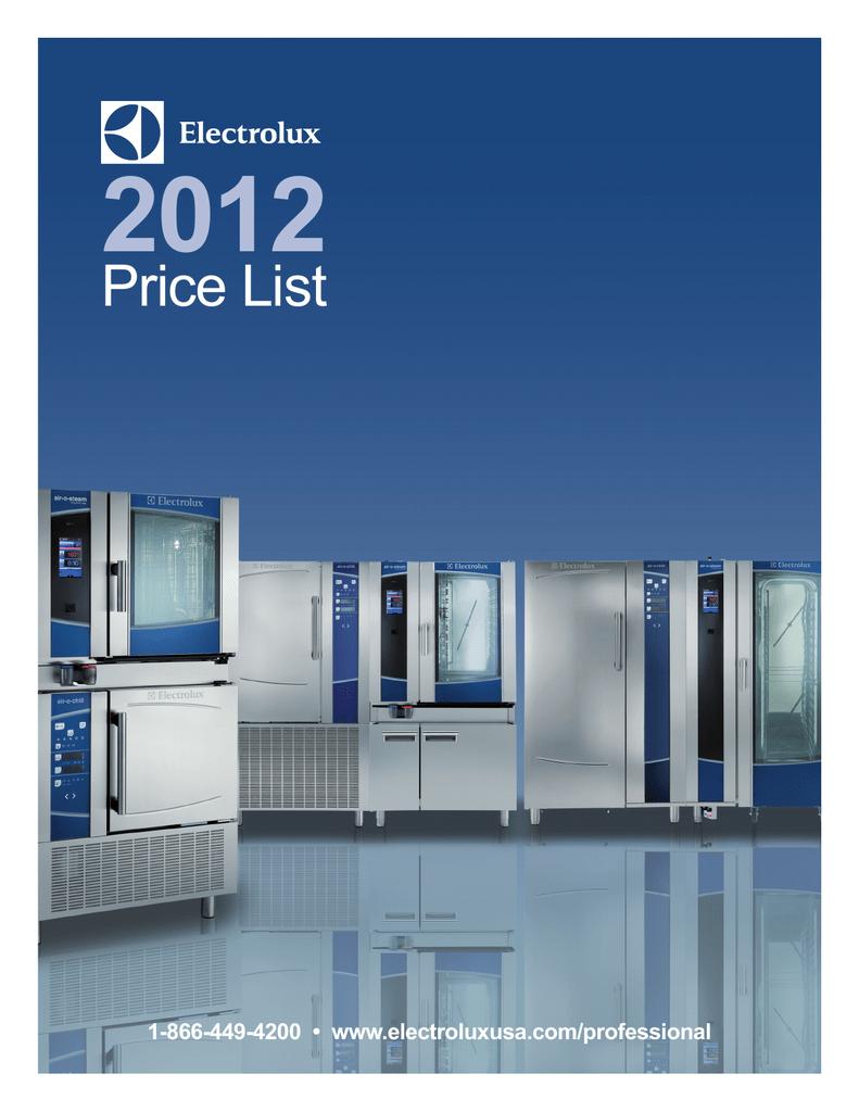 Price List - Electrolux Professional | manualzz.com