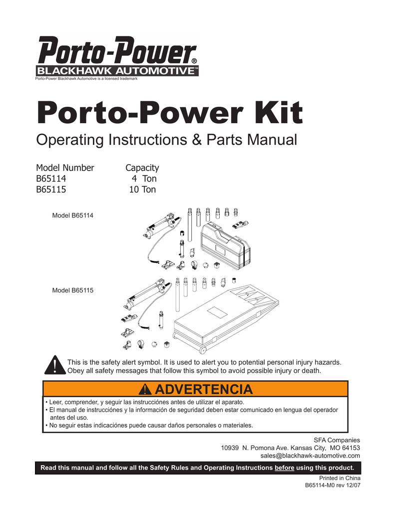 Porto-Power Kit - Shinn Fu America | manualzz com