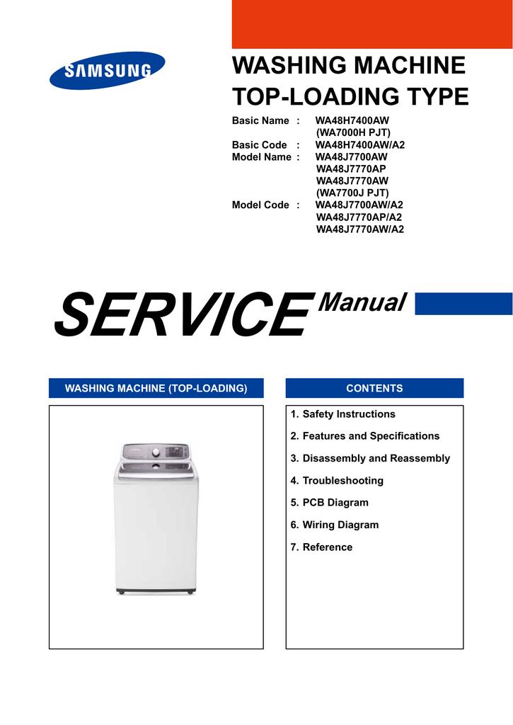 Washing Machine Top Loading Type Manualzz