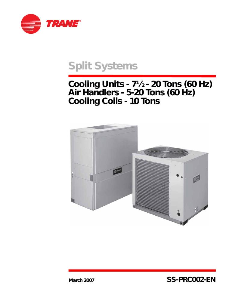 Split Systems - Climas Trane   manualzz.com on