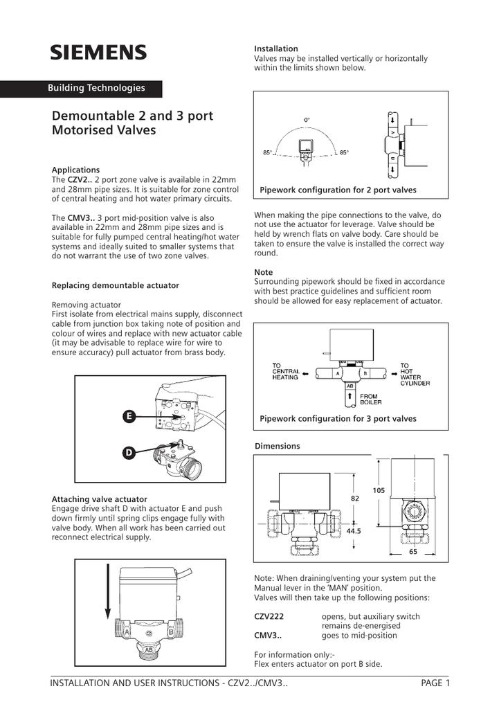 new valve  siemens uk  manualzz
